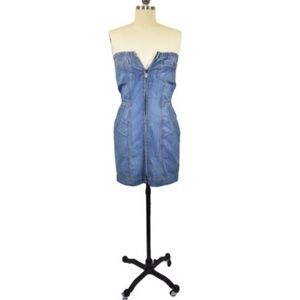 bebe Jean Denim Dress Size 26